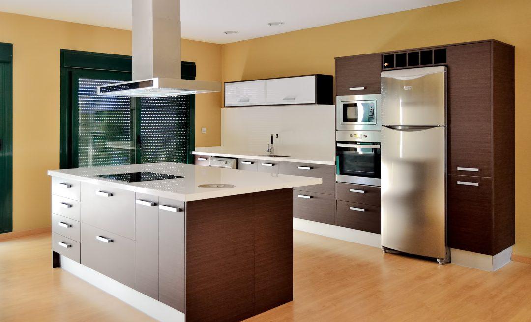 Cocina moderna con isla central