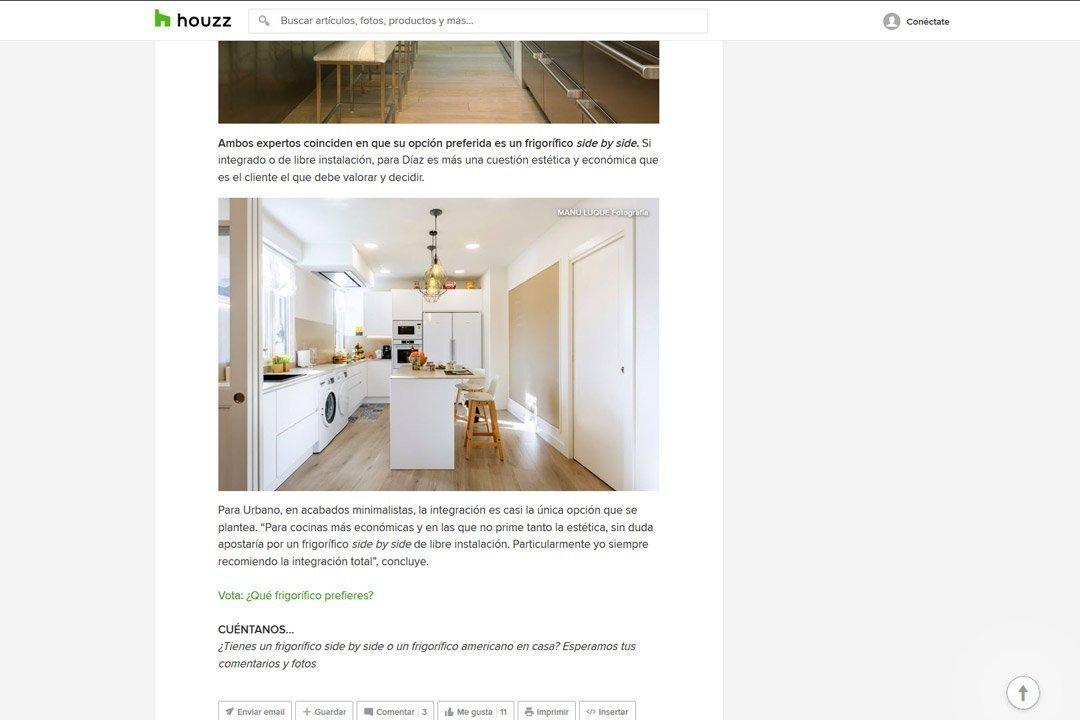Captura del artículo en Houzz