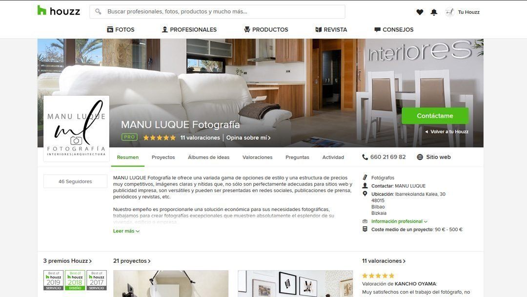 Best of Houzz 2019 – Servicio al Cliente